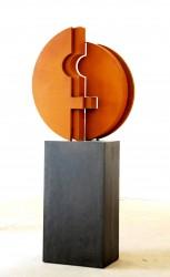 Symbol für Einheit: No. 75 | 220x180 cm | 2012 | Cortenstahl.