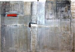 November: No. 521 | 100x150 cm | 2011 | Spachtelarbeit auf Leinwand mit herausgearbeiteten Strukturen.