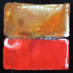 Gegensätze: No. 554 | 100x100 cm | 2011 | Acryl - Spachtelarbeit auf Leinwand.