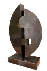 Symbol für Gemeinsamkeit: No. 104 | 70x90 cm | 2014 | Cortenstahl, Säule gerostet und lackiert.