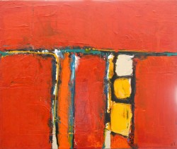 Sonne und Strand: No. 842 | 110x120 cm | 2014 | Acryl, Öl - Spachtelarbeit auf Leinwand.