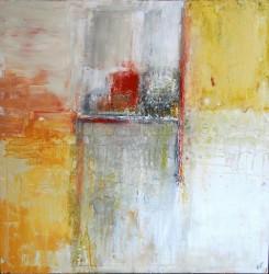 Sonne in Son Serra: No. 858 | 150x150 cm | 2014 | Acryl, Öl - Spachtelarbeit auf Leinwand.