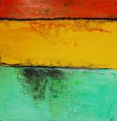 Sommertag: No. 905 | 100x100 cm | 2014 | Acryl - Spachtelarbeit auf Leinwand.