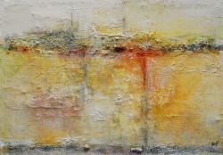 Insel Feeling: No. 916 | 80x90 cm | 2014 | Spachtelarbeit auf Leinwand, mit starken Strukturen.